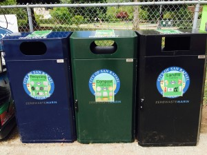 Recycle trash bins No Litter in Baseball